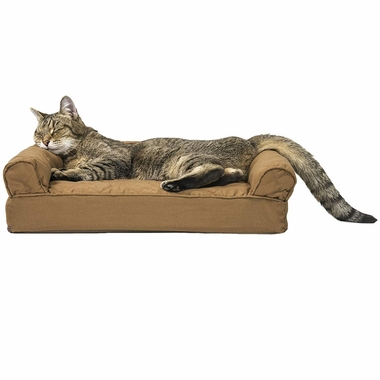 FURHAVEN-QUILTED-ORTHOPEDIC-BED-BROWN-SMALL
