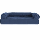 FurHaven Quilted Orthopedic Sofa Pet Bed - Warm Navy (Large)