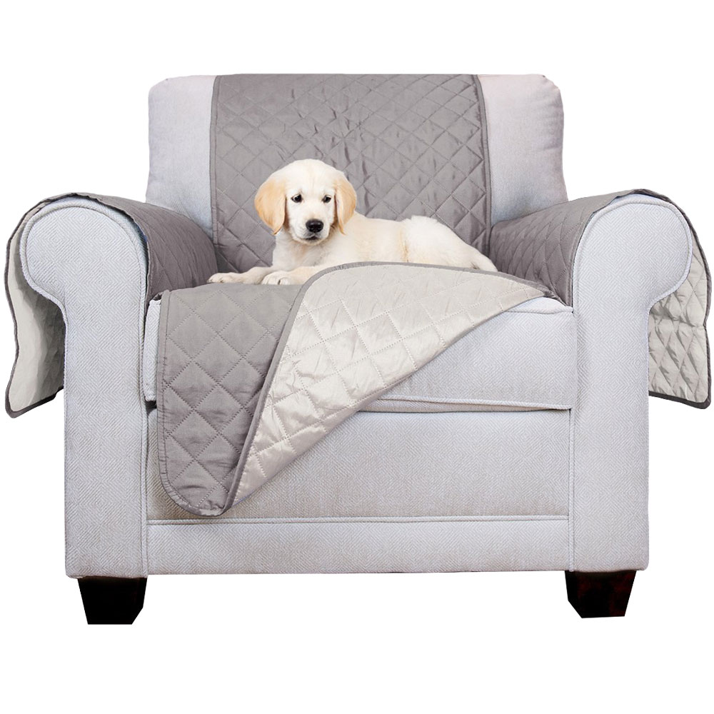 Image of FurHaven Reversible Chair Protector - Gray/Mist