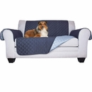 FurHaven Reversible Loveseat Protector - Navy/Light Blue