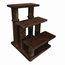 Furhaven Steady Paws 3 Step Pet Stairs - Brown