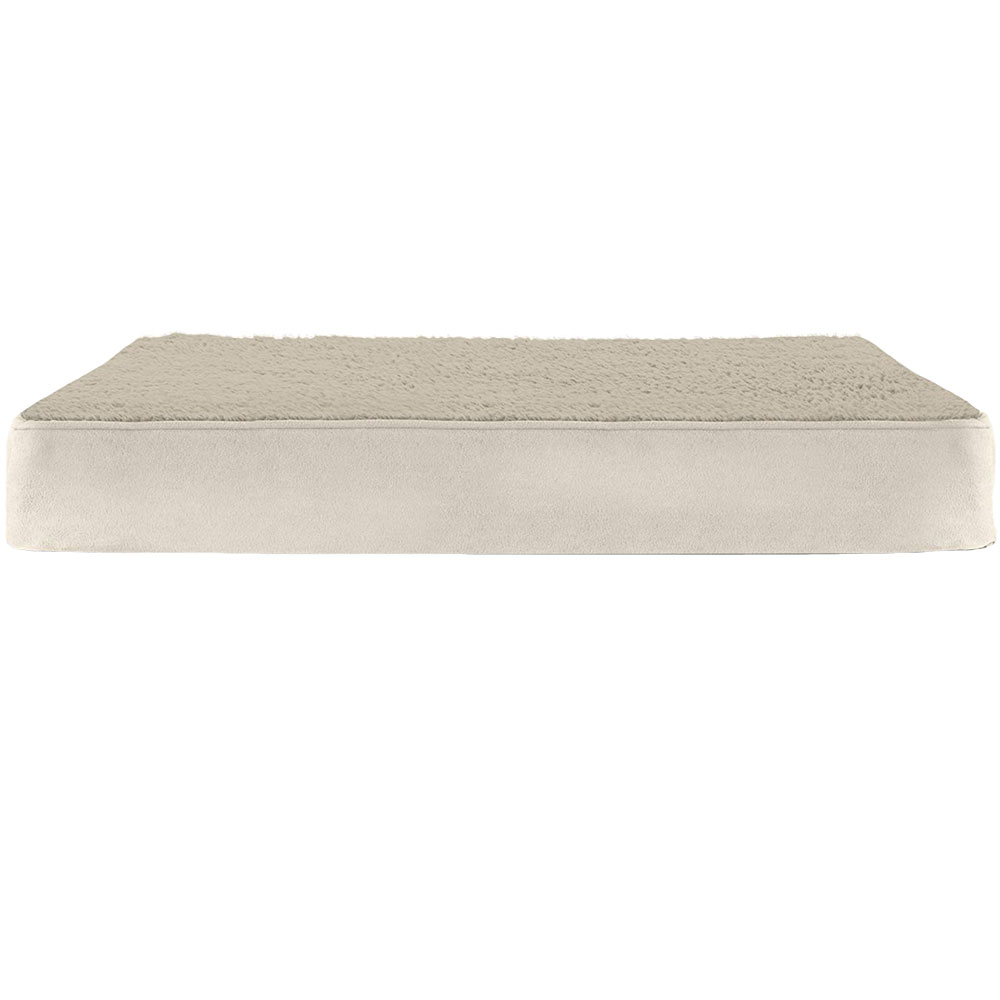 Image of FurHaven Terry & Suede Deluxe Orthopedic Pet Bed - Clay - Jumbo - from EntirelyPets