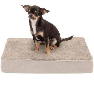 FURHAVEN-TERRY-SUEDE-ORTHOPEDIC-BED-CLAY-LARGE