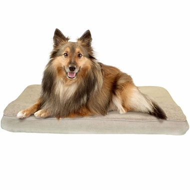 FURHAVEN-TERRY-SUEDE-ORTHOPEDIC-BED-CLAY-MEDIUM
