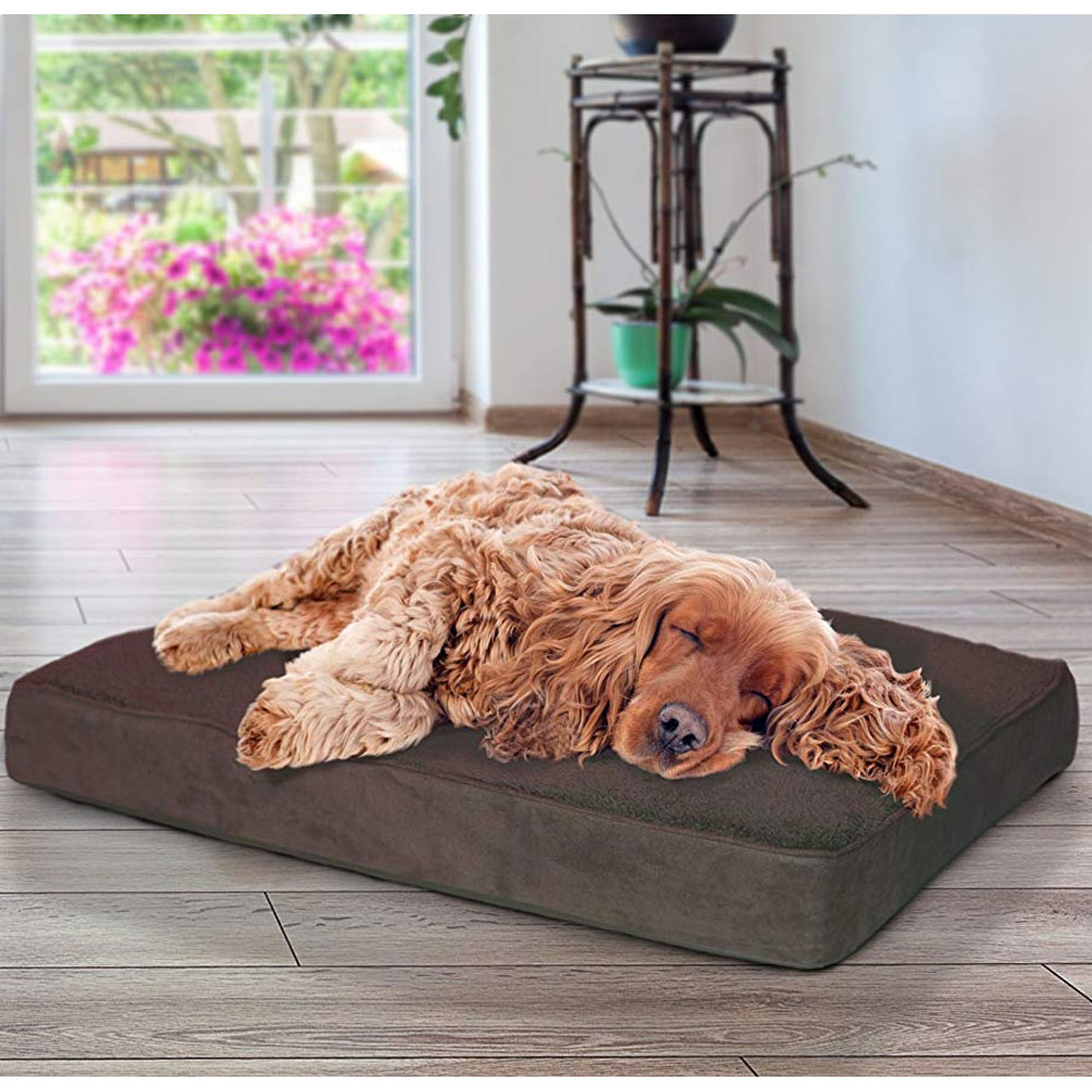 FURHAVEN-TERRY-SUEDE-ORTHOPEDIC-BED-ESPRESSO-MEDIUM