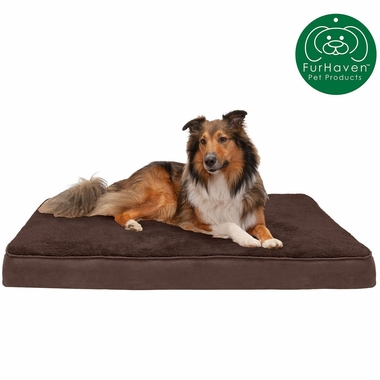 FURHAVEN-TERRY-SUEDE-ORTHOPEDIC-BED-ESPRESSO-SMALL