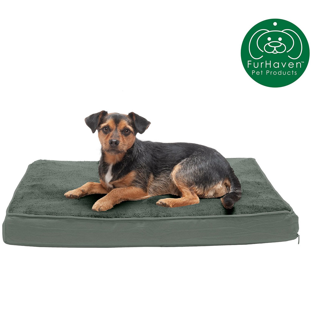 FURHAVEN-TERRY-SUEDE-ORTHOPEDIC-BED-FOREST-JUMBO