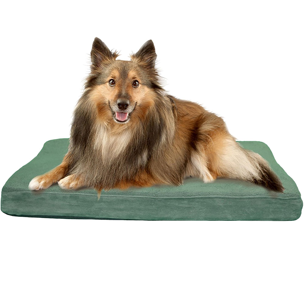 FURHAVEN-TERRY-SUEDE-ORTHOPEDIC-BED-FOREST-SMALL