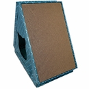 Furhaven Tiger Tent Corrugated Scratcher House with Catnip - Seaglass