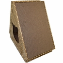 Furhaven Tiger Tent Corrugated Scratcher House with Catnip - Tan