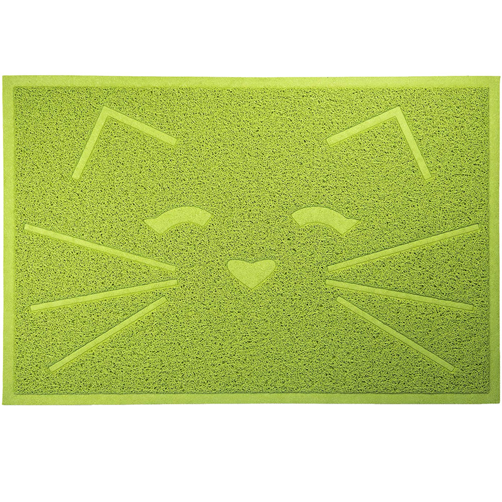 FurHaven Tiger Tough Cat Smile Tidy Paws Litter & Food Mat - Fresh Catnip from EntirelyPets