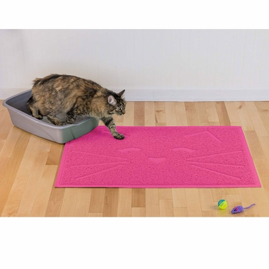 FURHAVEN-LITTER-FOOD-MAT-PRINCESS-PINK