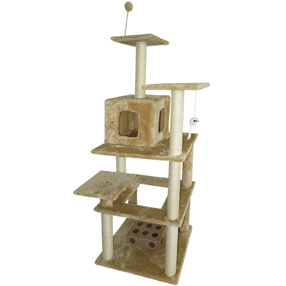 Image of FurHaven Tiger Tough Highrise Playground - Cream