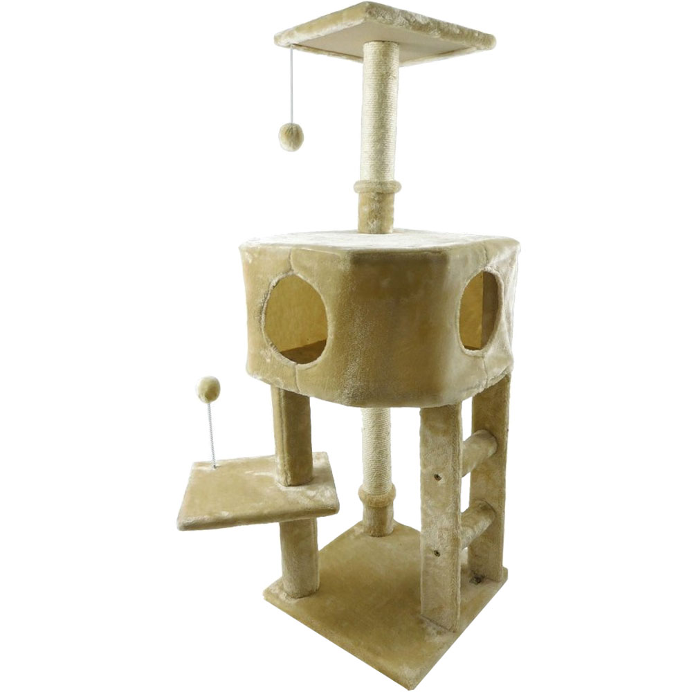 Image of FurHaven Tiger Tough Treehouse Playground - Cream
