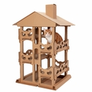 Furhaven Tower Playground Corrugated Scratcher House with Catnip