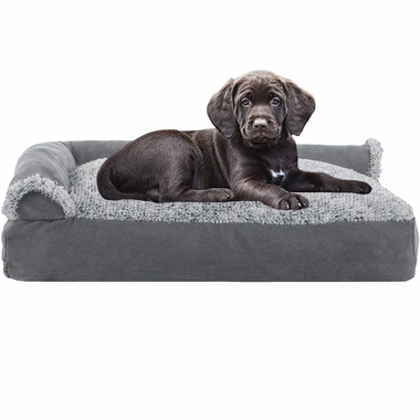FURHAVEN-CHAISE-LOUNGE-PILLOW-BED-GRAY-SMALL