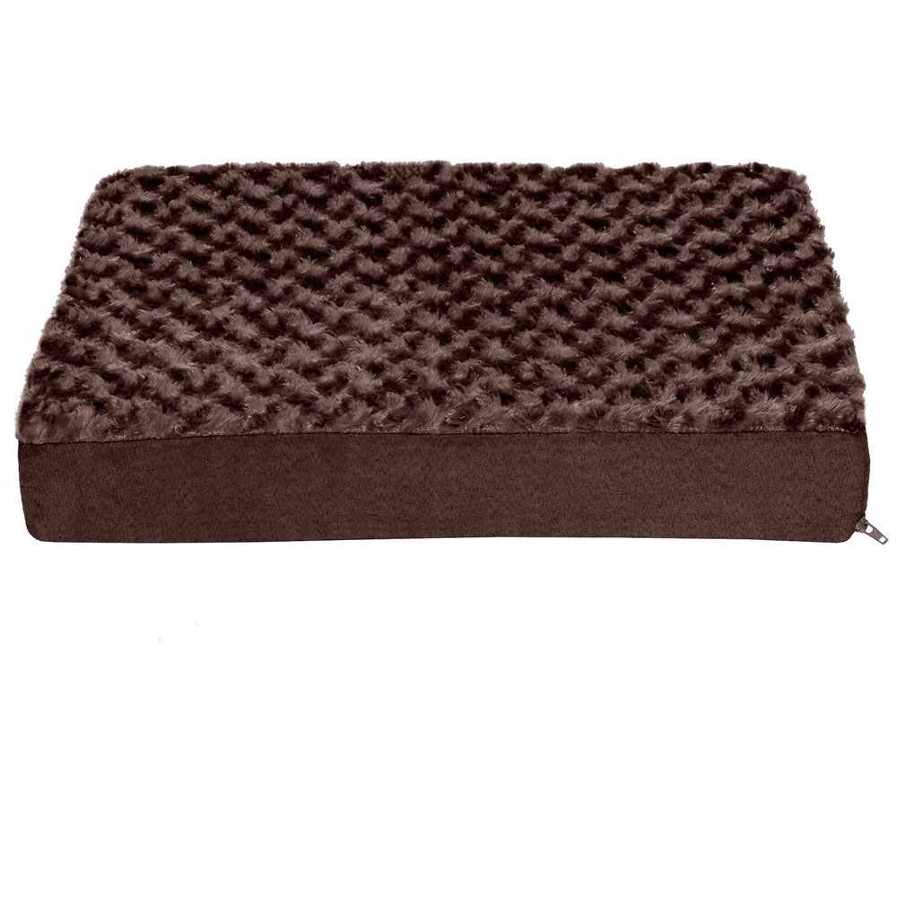 FURHAVEN-ULTRA-PLUSH-ORTHOPEDIC-BED-CHOCOLATE-SMALL