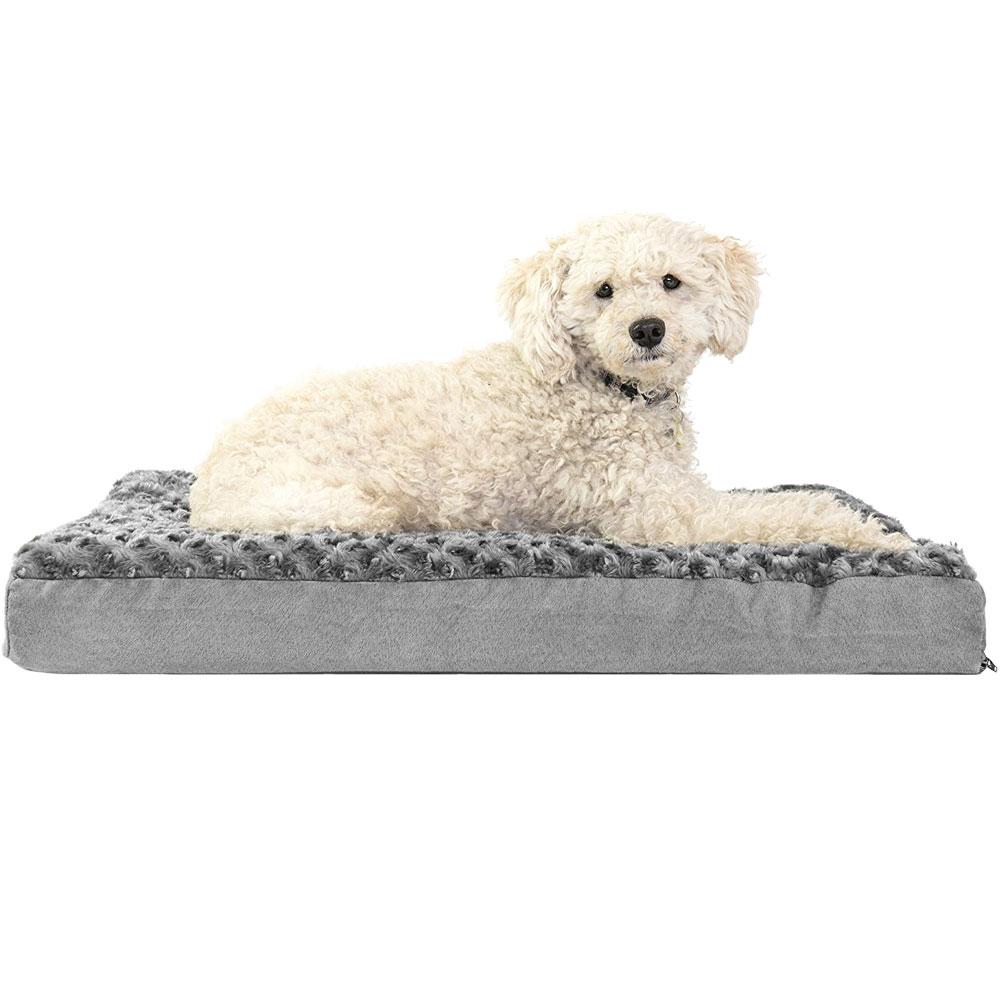FURHAVEN-ULTRA-PLUSH-ORTHOPEDIC-BED-GRAY-SMALL