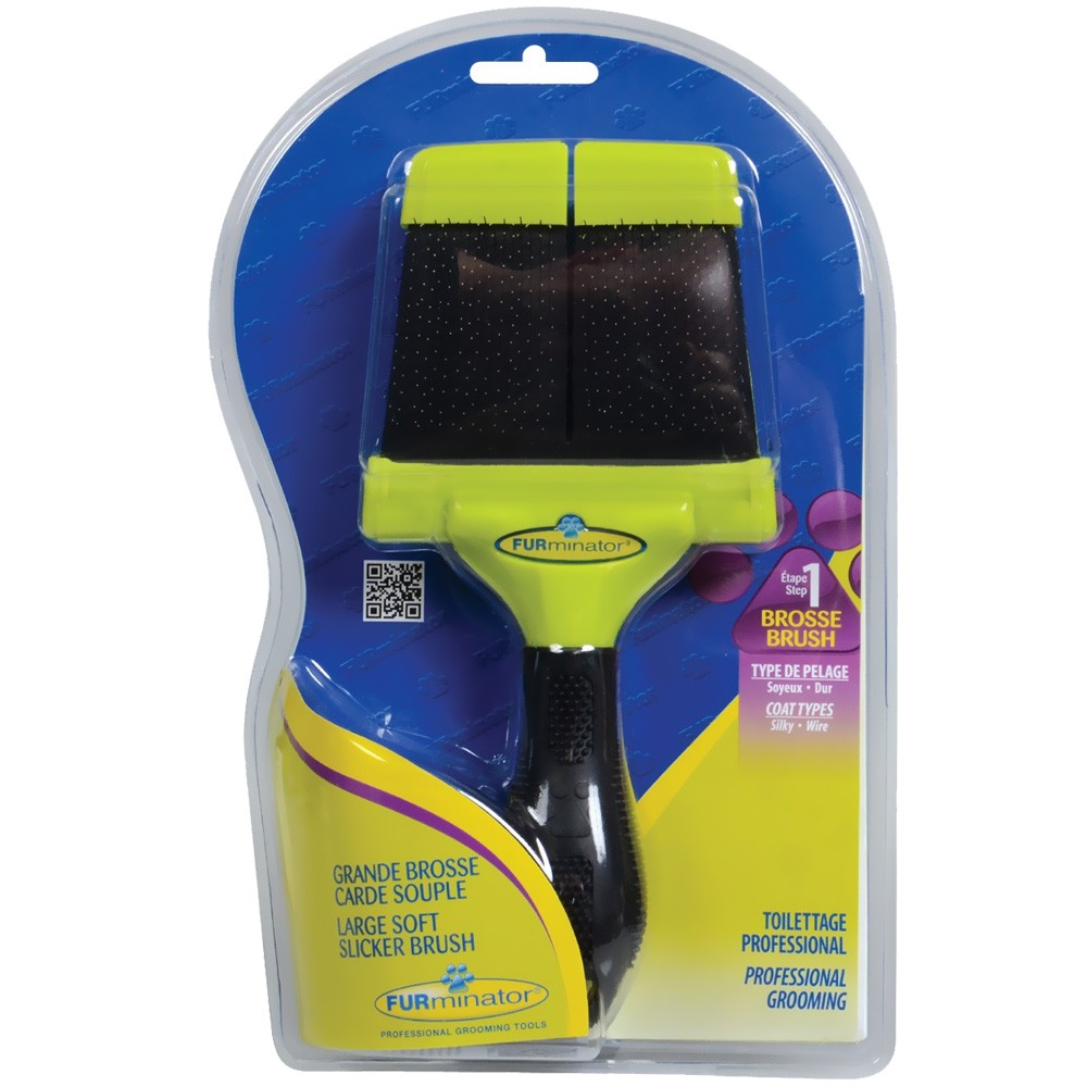 Image of FURminator Soft Slicker Brush - Large