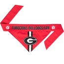 Georgia Bulldogs Dog Bandana - Tie On (Large)