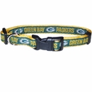Green Bay Packers Dog Collar - Ribbon (Small)