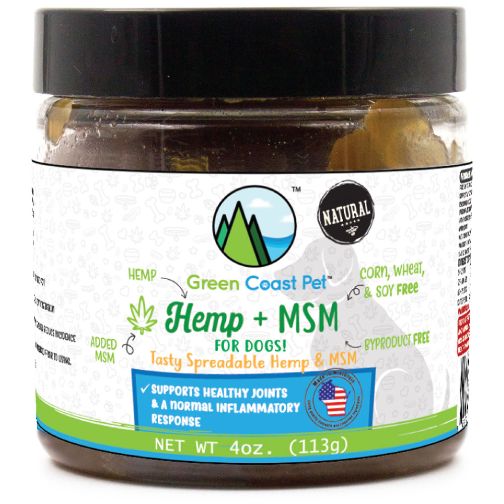 Green Coast Pet Hemp + MSM for Dogs - Peanut Butter Pate (4 oz) im test