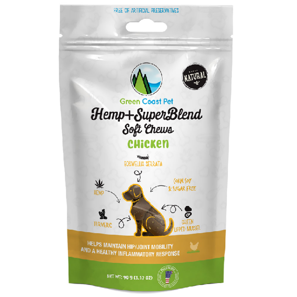 Green Coast Pet Hemp + SuperBlend Hip & Joint for Dogs - Chicken (30 Chews) im test