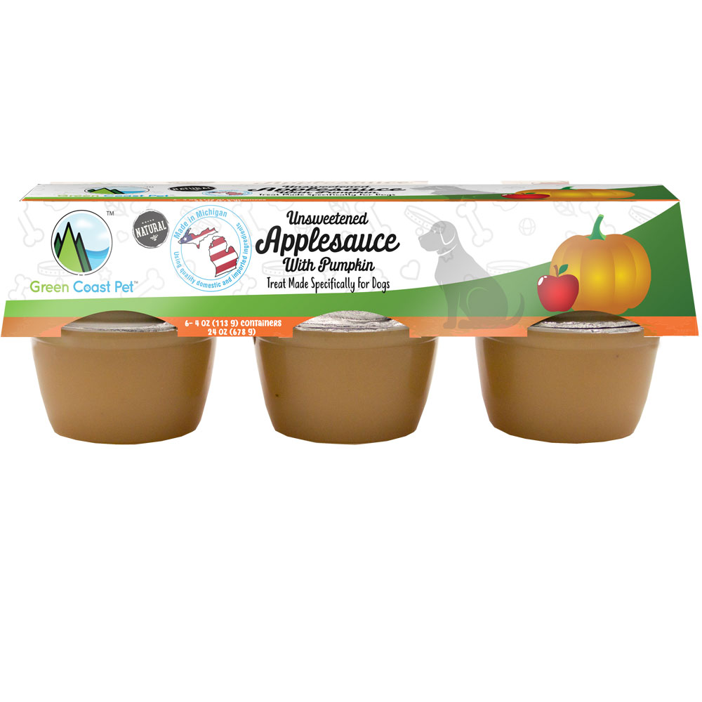 Green Coast Pet Unsweetened Applesauce with Pumpkin for Dogs (6 Pack) im test