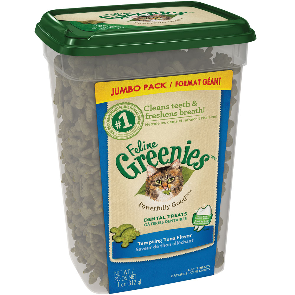 Greenies Feline Dental Treats - Tempting Tuna Flavor (11 oz Tub) im test