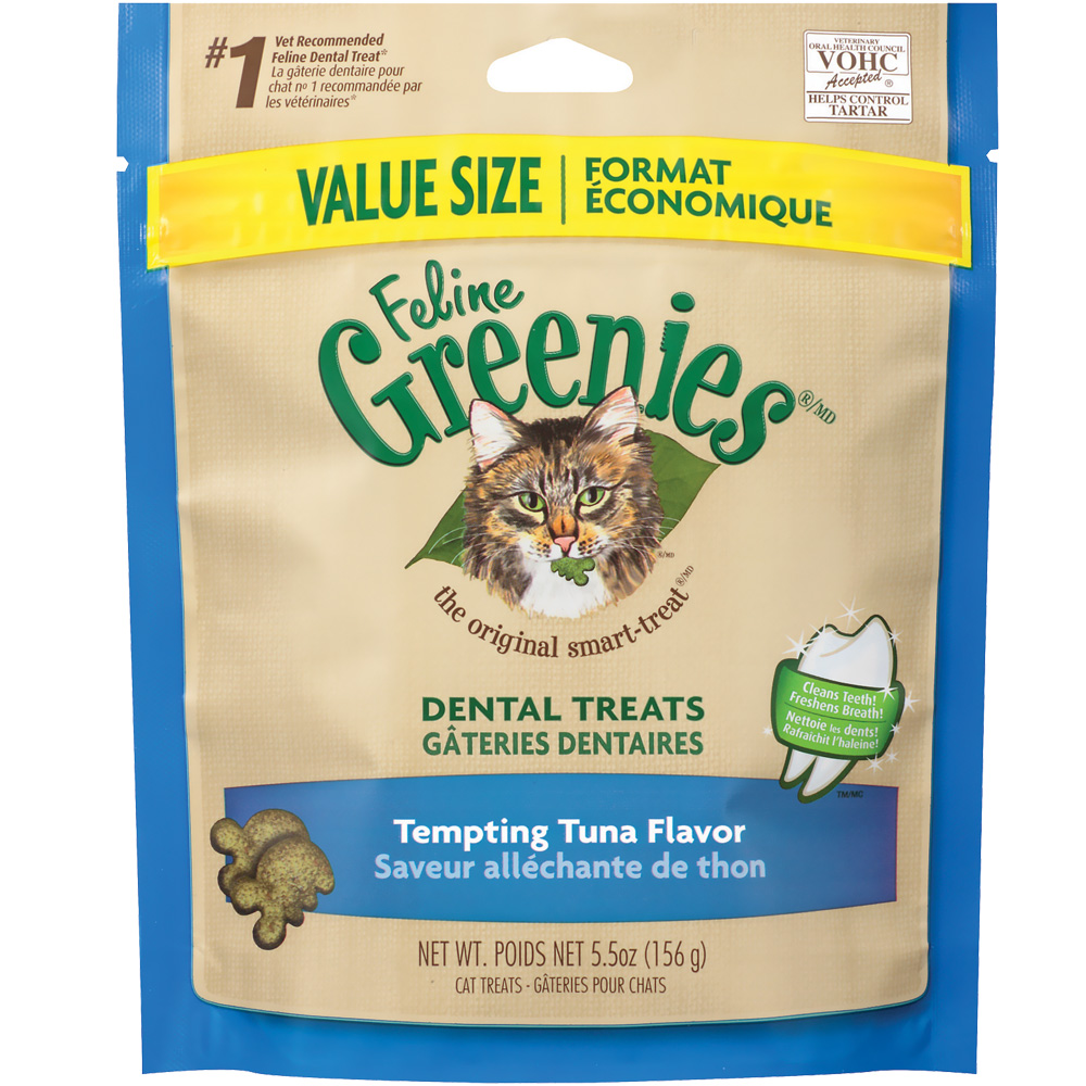 Greenies Feline Dental Treats - Tempting Tuna Flavor (5.5 oz) im test