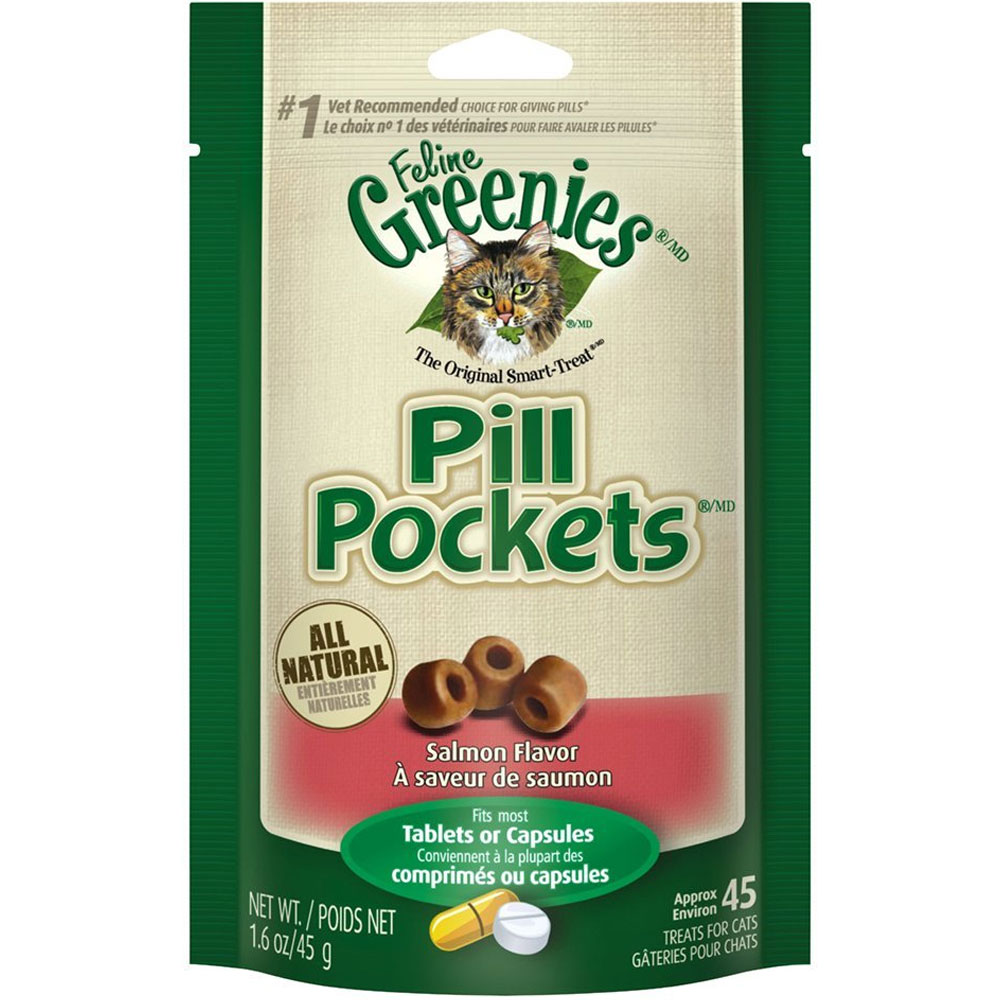 Greenies Pill Pockets for Cats Salmon Formula 1.6 oz (45 count)