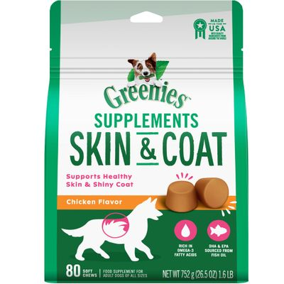 GREENIES-SUPPLEMENTS-SKINCOAT-DOGS-80CHEWS