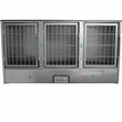 Groomer's Best 3 Unit Cage Bank - 58 in x 31 in x 25 in