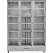 Groomer's Best 9 Unit Cage Bank - 58 in x 25 in x 79 in