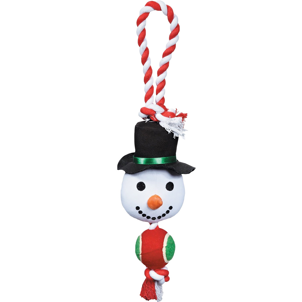 GRRIGGLES-HOLIDAY-ROPE-TENNIS-TUG-SNOWMAN