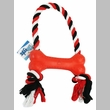 Grriggles Rubber Bone Tug Dog Toy - Red