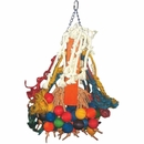 Happy Beaks Toy - Cluster of Hanging Wood Bells (Giant)