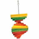 Happy Beaks Toy - Colored Wooden Blocks Spiral