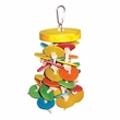 Happy Beaks Toy - Hanging Wood Wafers on Rope