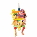 Happy Beaks Toy - Hanging Wooden Rectangles with Rope