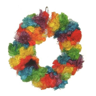 Happy Beaks Toy - Rainbow Sisal Ring (Large)