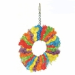 Happy Beaks Toy - Rainbow Sisal Ring (Medium)