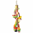 Happy Beaks Toy - Real Wood with Hanging Blocks on Rope