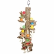 Happy Beaks Toy - Real Wood with Hanging Wood Cylinders