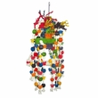 Happy Beaks Toy - Rope Swing with Rope Knots & Wood (Large)