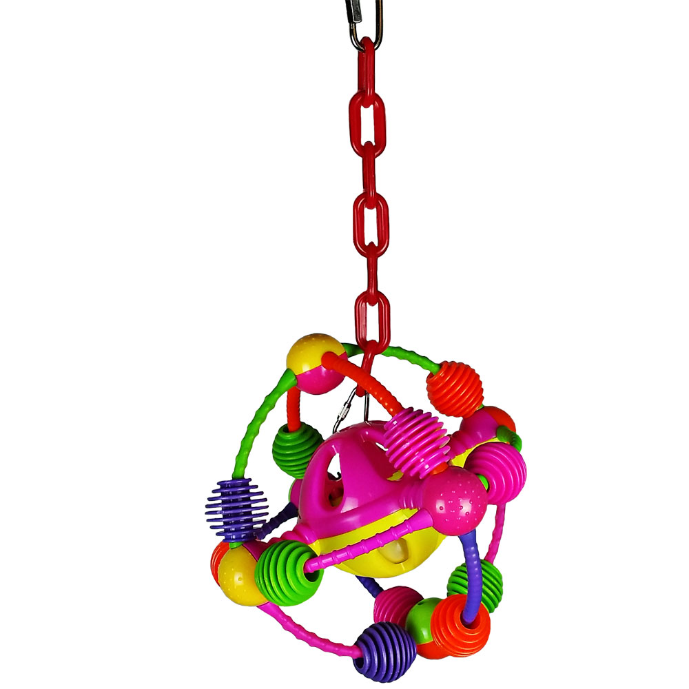 HAPPY-BEAKS-TOY-SPACE-BALL-ON-A-CHAIN