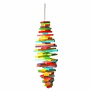 Happy Beaks Toy - Spiral Blocks (Medium)