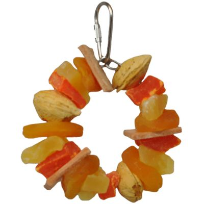 Happy Beaks Toy - Tropical Delight (Fruit Nut Ring Jr.)