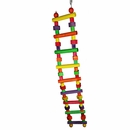 Happy Beaks Toy - Wood Block Ladder (Large)
