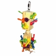 Happy Beaks Toy - Wood Knots Trapped Bird Toy in Blocks